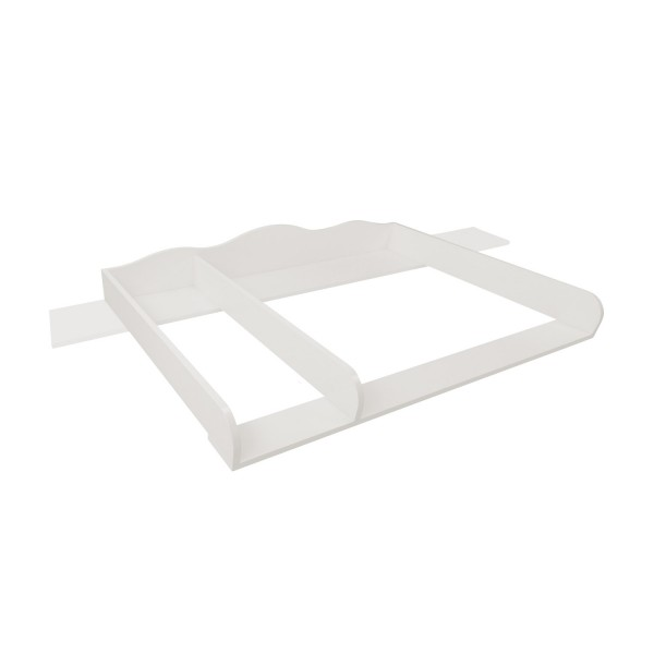 Noah changing top, 159.5cm wide cover & divider, white, IKEA Hemnes