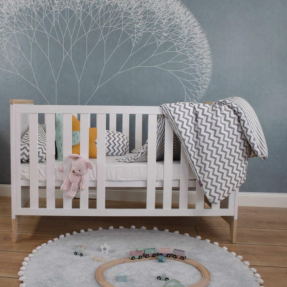 Babybett Ida, weiß, 140x70 cm