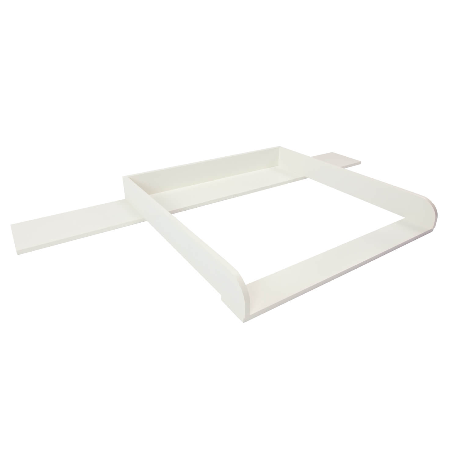 Lennard changing top with 159.5 cm wide cover, white, IKEA Malm