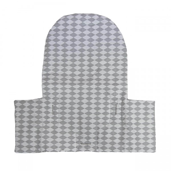 Seat cushion Kurt, rhomb grey matching IKEA high chair antelope