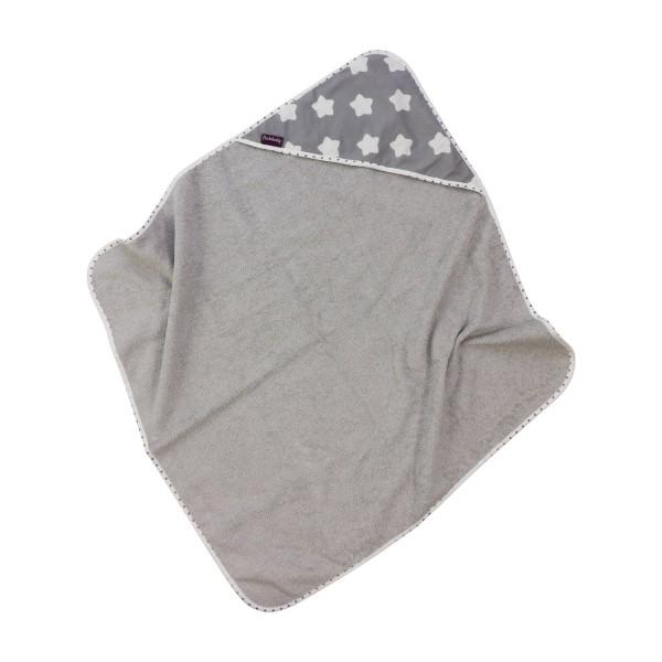 Hooded towel Finja, grey, 80x78 cm