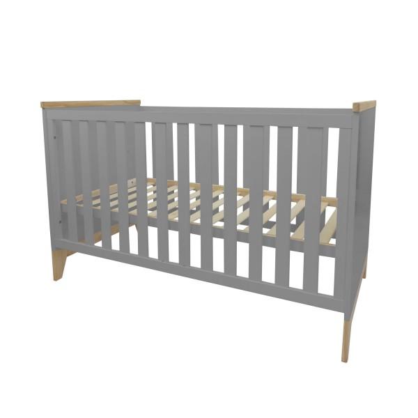 Baby cot Ida, grey, 140x70 cm