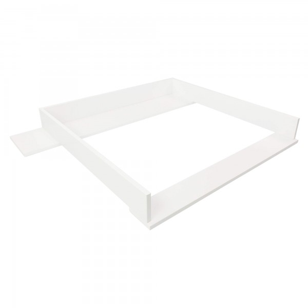 Marius changing top with wide cover, white, IKEA Hemnes