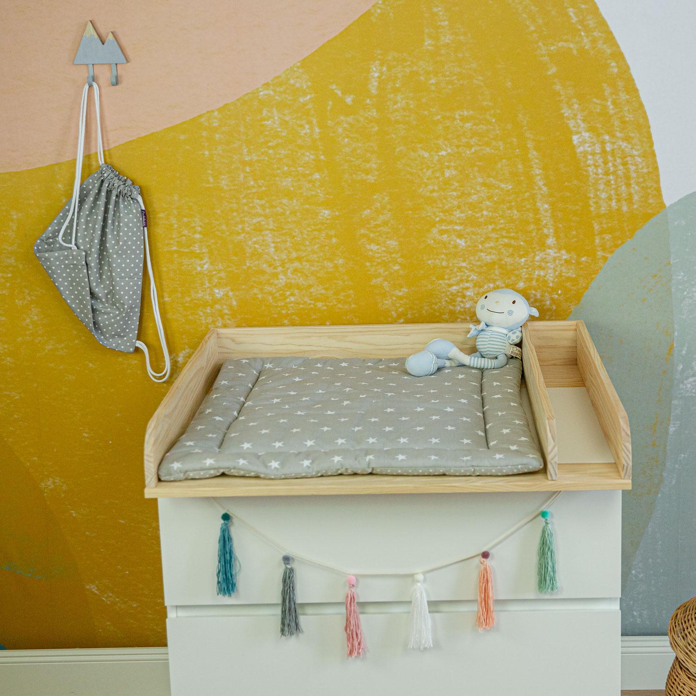 Wickelauflage Frida, grau, 65x75 cm