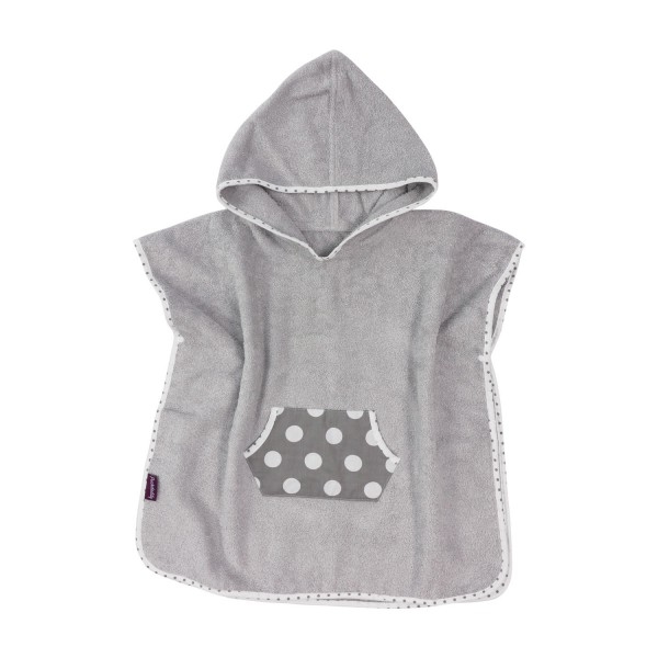 Bathing poncho Smilla, grey
