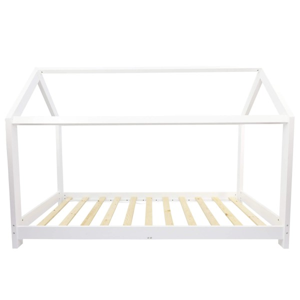 Puckdaddy house bed white wood, children's bed 90x200