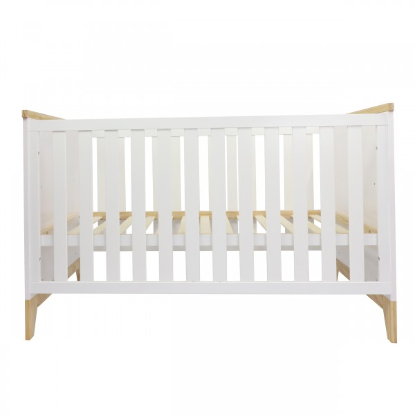 Puckdaddy baby cot 70x140 cm, white, pine wood