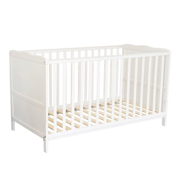 Puckdaddy - Baby cot with cloud design white wood