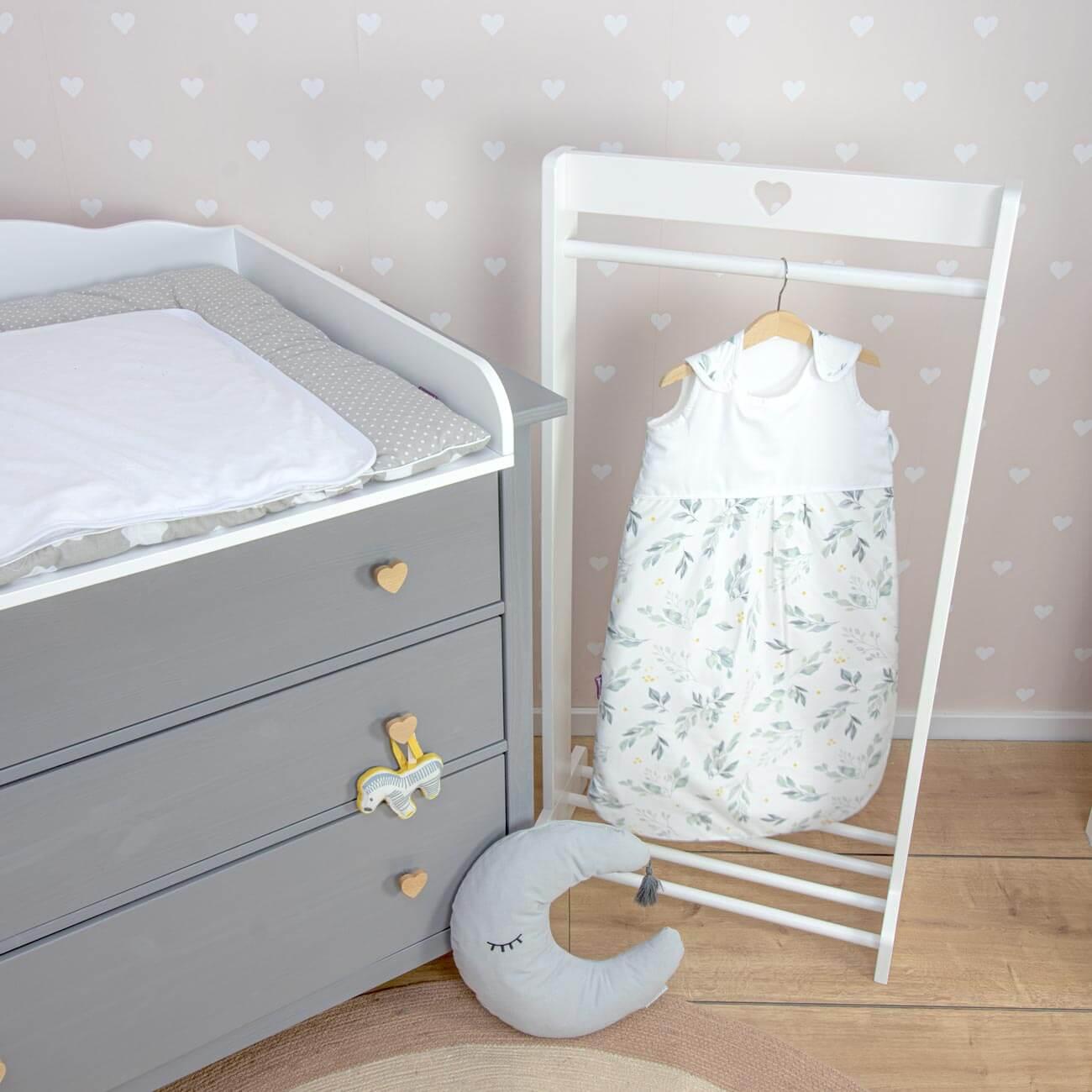 Flora sleeping bag, white, 86 cm