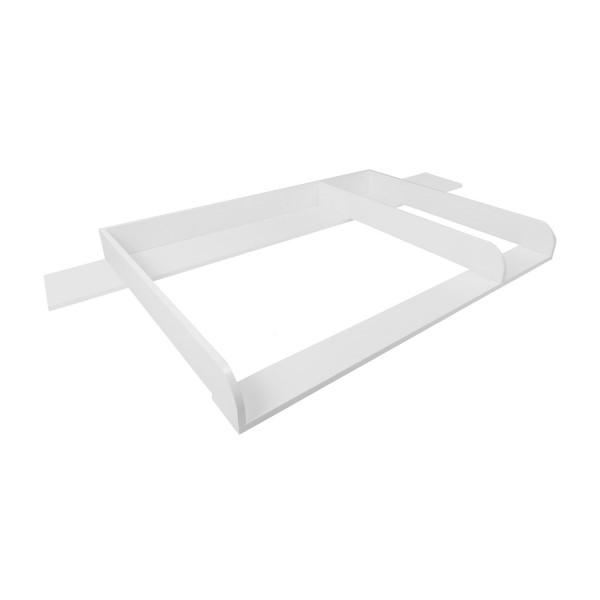 Wickelaufsatz Matz mit 159,5 cm Blende und Trennfach, weiß, für IKEA Hemnes