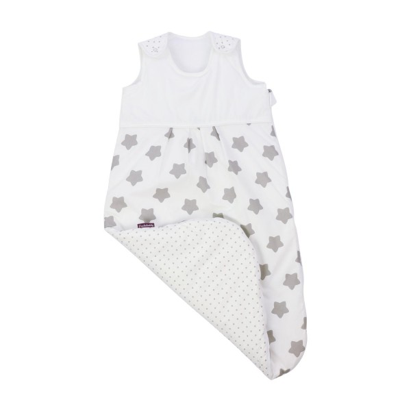 Puckdaddy baby sleeping bag without arms in white
