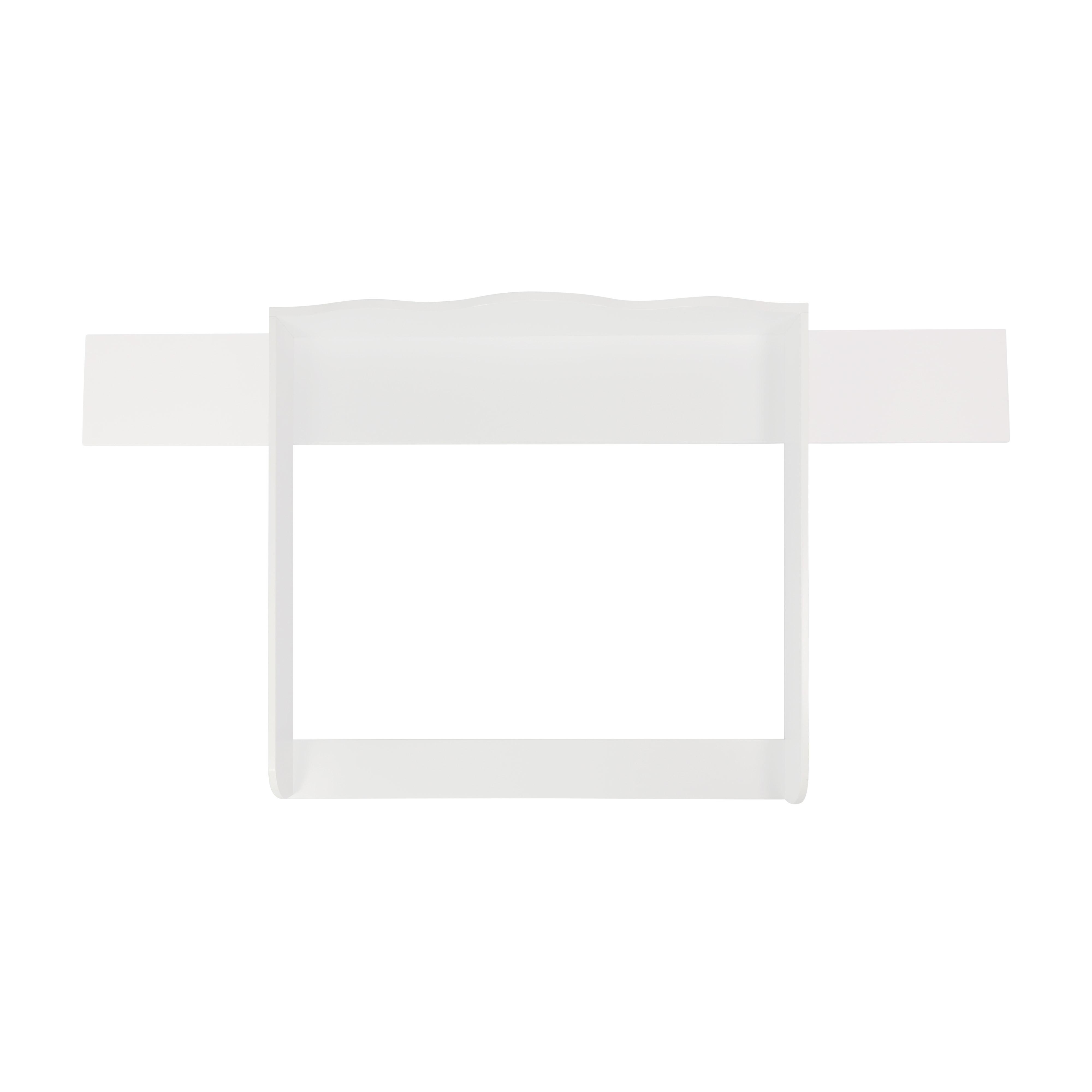 Wickelaufsatz Emil mit 159,5 cm Blende, weiß, für IKEA Hemnes