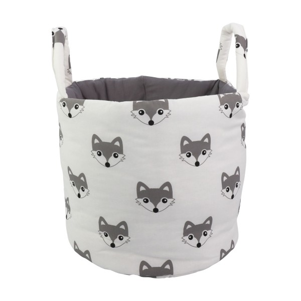Storage basket Foxi, white, ø 35cm