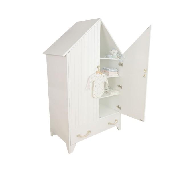 Kleiderschrank Carlotta, weiß, 110x55x187cm