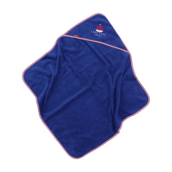 Hooded towel Björk, blue, 80x78 cm