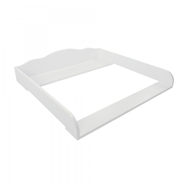 Puckdaddy changing table top Tius for Ikea Hemnes white