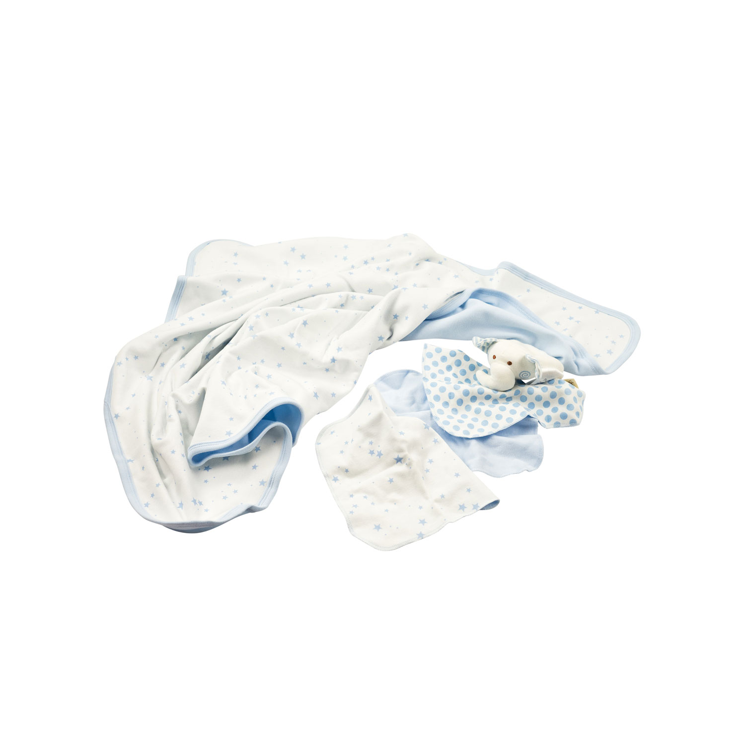 Organic Washing Set Filin, light blue