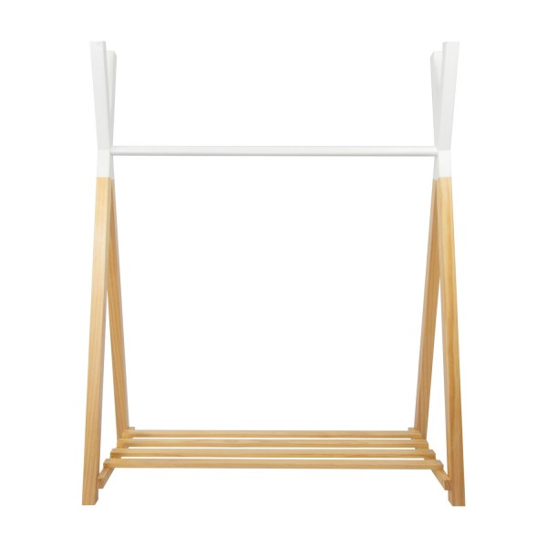 Puckdaddy clothes rail tepee nature white 115x50x142 cm
