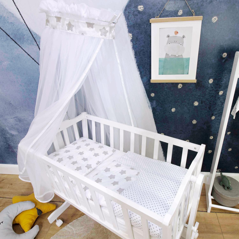Cradle set Freya, white, 74x74cm
