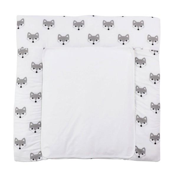 Changing mat Foxi, white, 77x75 cm
