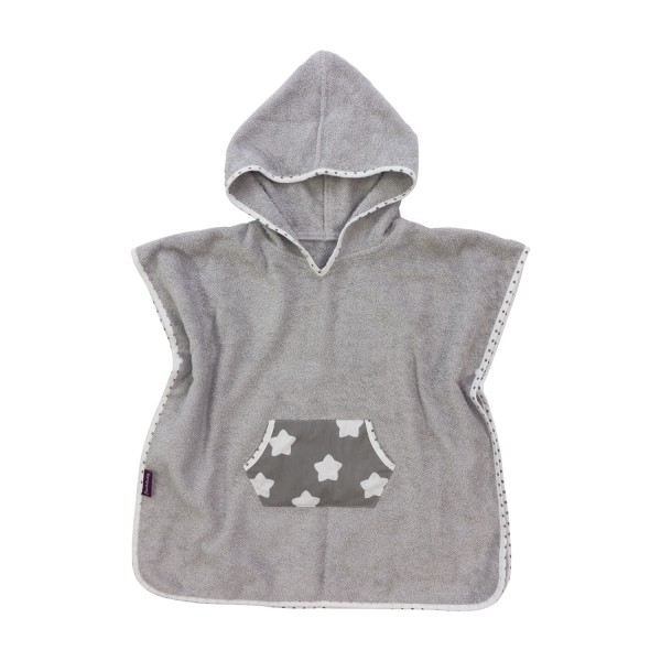 Bathing poncho Finja, grey