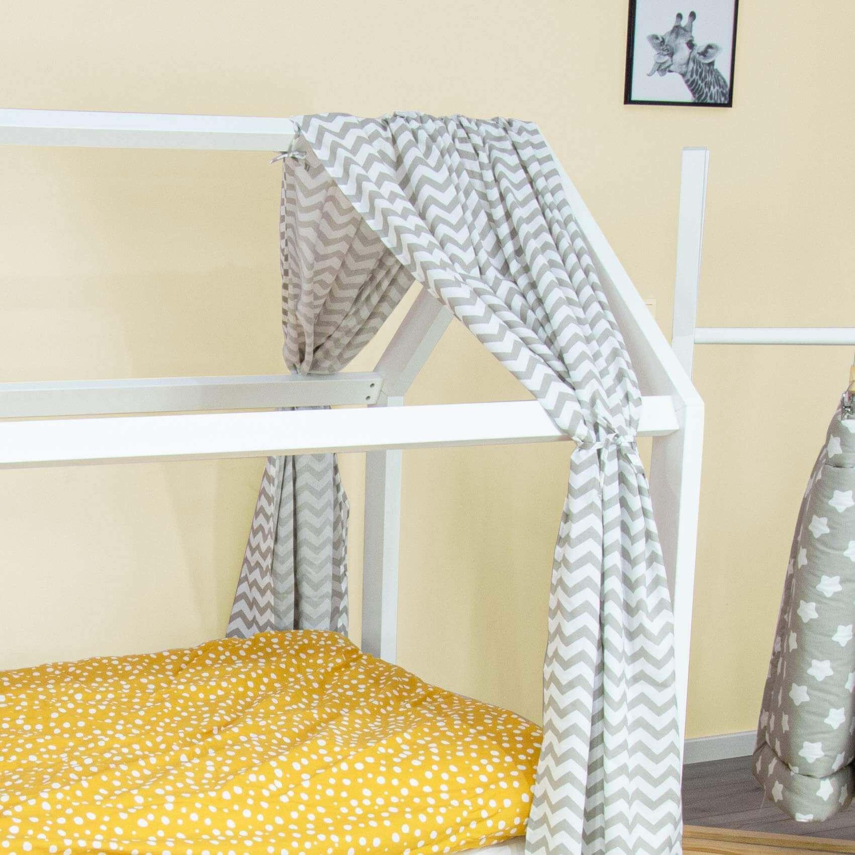 Hausbett-Vorhang aus 100% Baumwolle, 146x298cm | Puckdaddy