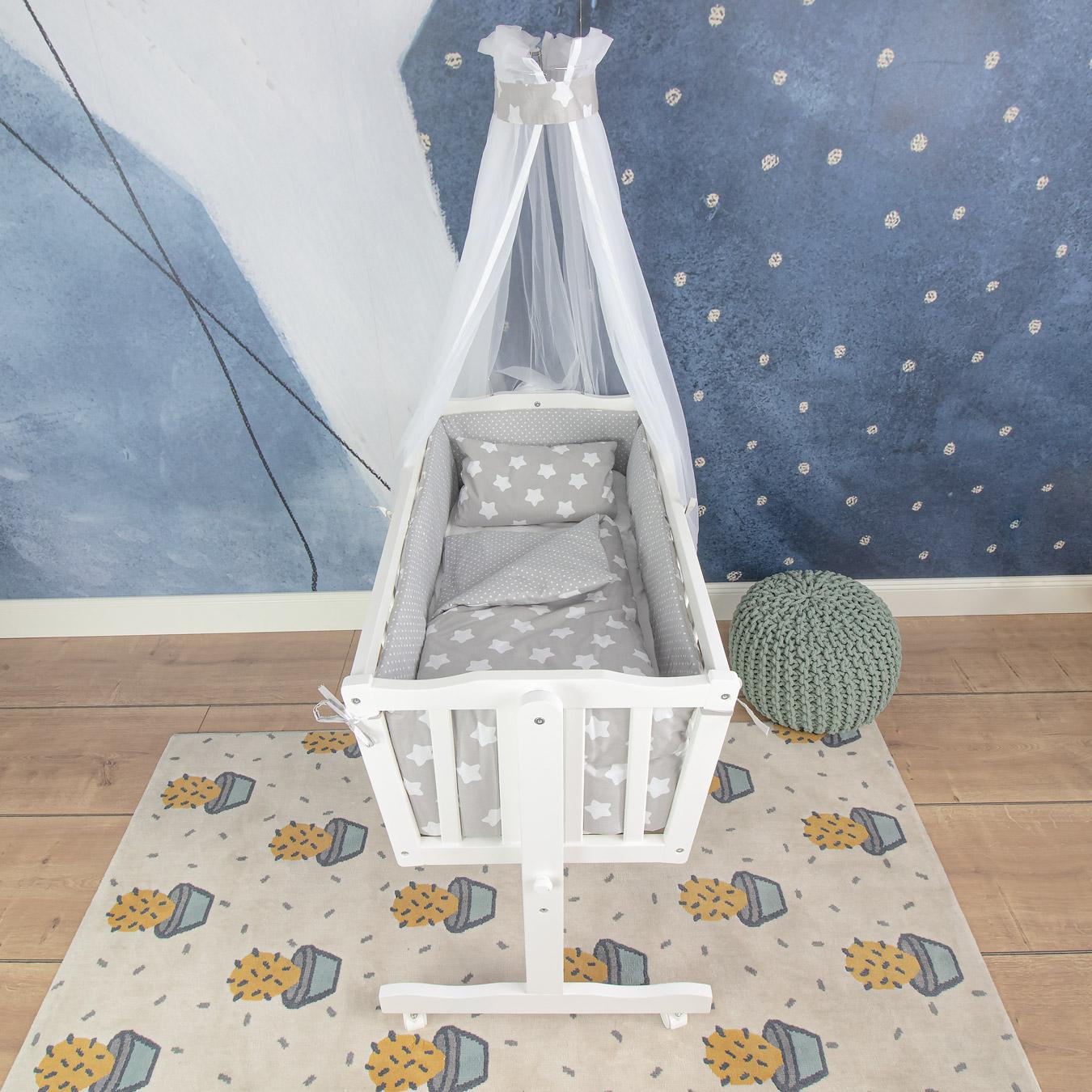 Wiegen-Set Finja, grau, 74x74 cm