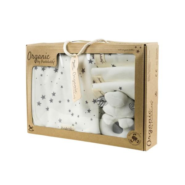 Puckdaddy Geschenkebox Organic Waschset Filin grau