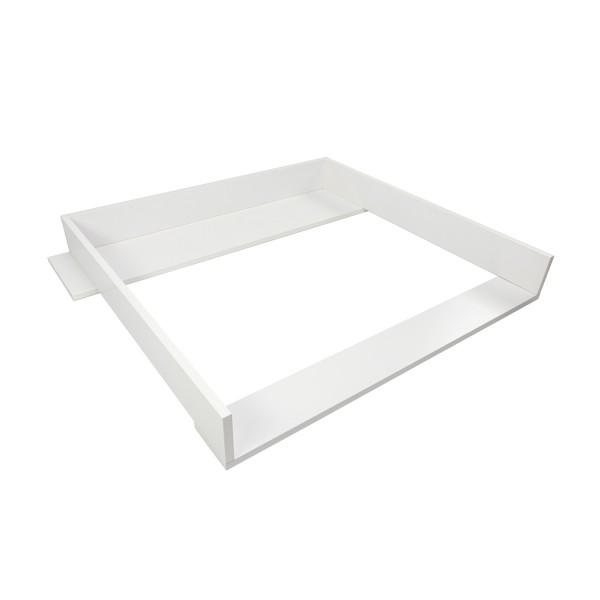 Ausstellungsstück: Wickelaufsatz Konstantin mit Blende, weiß, IKEA Koppang