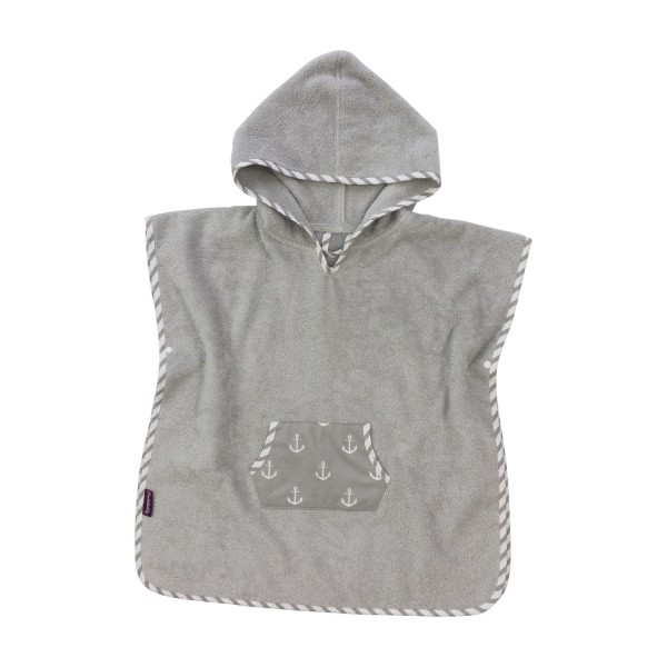 Bathing poncho Greta, grey