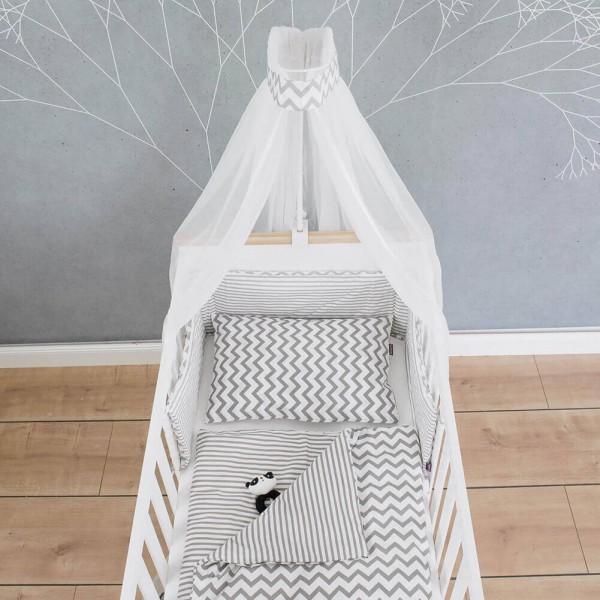 Bed set Svea, white, 135x100cm