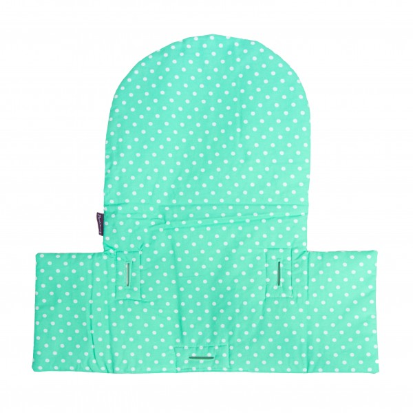 Seat cushion Yanis, dots/mint matching IKEA high chair antelope