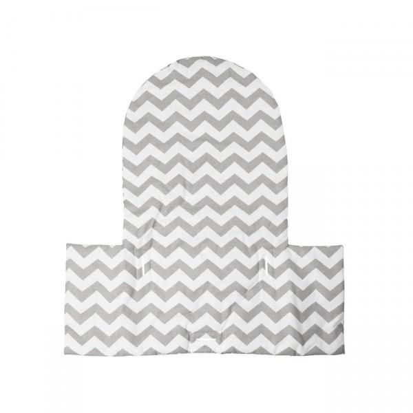 Sitzkissen Till, Chevron/grau passend IKEA Hochstuhl Antilop