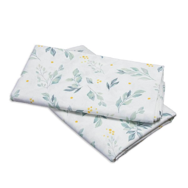 House bed curtain Flora, white, 146 x 298 cm