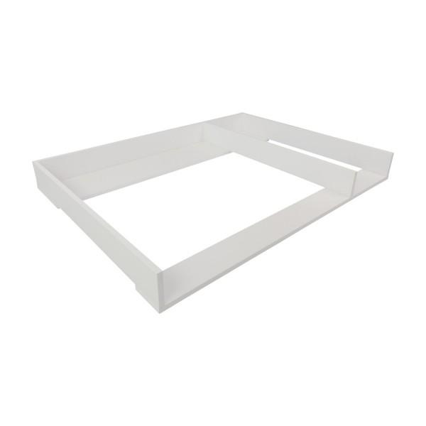 Wickelaufsatz Harry mit Trennfach weiß für IKEA Hemnes
