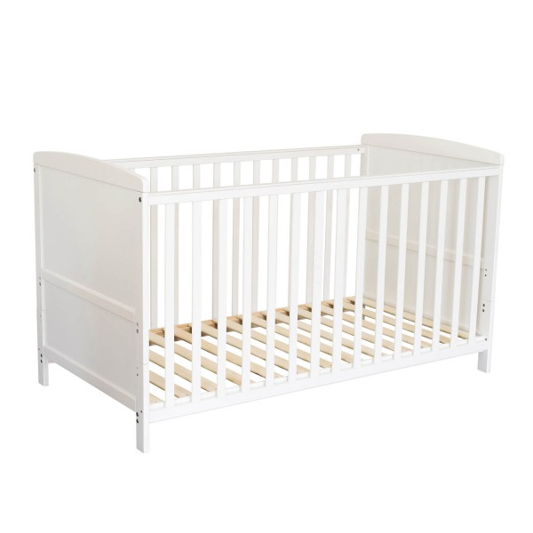 Puckdaddy baby cot white wood 70x140