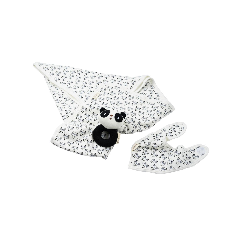 Organic gift box panda, white